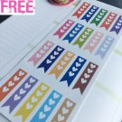 PP053 -- Rainbow Check List Life Planner Stickers for Erin Condren