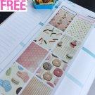 PP450B --  Donuts Macaroons Full Boxe  Planner Stickers for Erin Condren