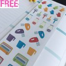 PP279 -- Small Baking Tools Set Life Planner Stickers for Erin Condren