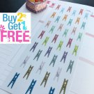 PP084 -- Small Clothespin Planner Stickers for Erin Condren