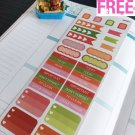 PP221 -- Functional Boxes Life Planner Stickers for Erin Condren