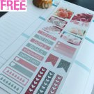 PP440 -- Pink Rose Samples Planner Stickers for Erin Condren