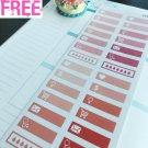 PP407G -- Pink Valentine Day Hearder Life Planner Stickers for Erin Condren