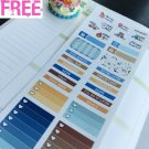 PP453C -- Baseball Sport Game Monthly Kit Life Planner Sticker Erin Condren