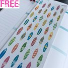 PP281-- Little Surfing Board Life Planner Stickers for Erin Condren