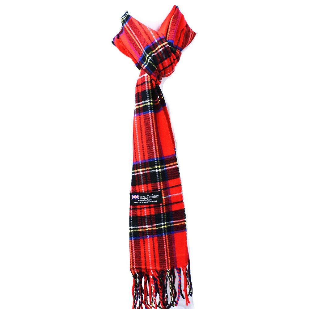 Winter Mens Womens  Wool Stripe Scarf Scarves Stewart RED GREEN