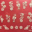 TM Nail Art 3D Decal Stickers White Flowers Y017