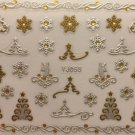 TM Nail Art 3D Decal Stickers Christmas Tree Reindeer Snowflakes Winter YJ055