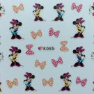 TM Nail Art 3D Decal Stickers Girl Mouse Bows K085
