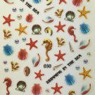TM Nail Art 3D Decal Stickers Various Sea Shells, Pearls, Swimming, Beach LY030