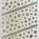 TM Nail Art 3D Decal Stickers Silver Snowflakes & Angel Christmas Winter F284