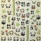 TM Nail Art 3D Decal Stickers Cute Panda Bears Bamboo Giant Panda LY180