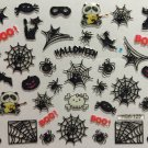 TM Nail Art 3D Decal Stickers Halloween Boo Spider Witch Boot Black Cat Mask YGA123