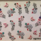 TM Nail Art 3D Decal Stickers Dainty Pearlescent Flowers & Butterflies YGYY136