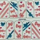 TM Nail Art Water Decals Bows & Hearts BOP062