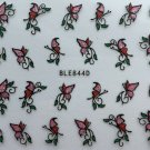 TM Nail Art 3D Glitter Decal Stickers Butterfly Pink & Red Glittery E10/BLE844D