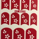 TM Nail Art Decal Stencil Stickers Star Flowers & Leaves XF.M029