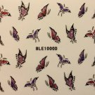 TM Nail Art 3D Decal Glitter Stickers Butterfly Butterflies BLE1000D