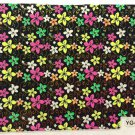 TM Nail Art 3D Decal Stickers Neon Flowers Black w/ Bright Flowers YGYY065