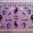 TM Nail Art 3D Decal Stickers Halloween Fish Black Cat JH083