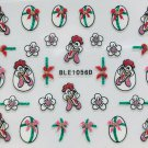 TM Nail Art 3D Stickers Glitter Decals Easter Eggs Flowers Chicken Bows BLE1056D