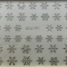 TM Nail Art 3D Decal Stickers Various Snowflakes  Silver DTL91