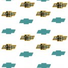 BOW TIE W Water Transfer  D  NailArt  CamoTeal