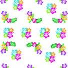 Neon Hibiscus W  Water Transfer  D  NailArt
