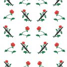 Red Rose and Sword W  Water Transfer  D  NailArt