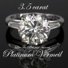 3.5 CARAT ROUND solitaire ENGAGEMENT Dream Ring SIZE 9