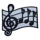 Musical Bar and Measure Applique Patch - Music Notes Clef (Iron on)