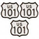 "Highway 101 Patch - California, Oregon, Washington 1-3/8"" (3-Pack, Iron on)"