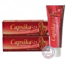 Capsika-25 , Capsika Gel for Relief of Muscle Pain 60g Pack of 2