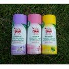 3 Odor of 22g. of JT Deodorant Powder Thai Natural Herbal Body Foot Underarm.