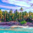 Digital Photo Wallpaper Background Screensaver Desktop-Sunny beach with palm trees