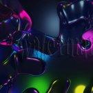 Digital Photo Wallpaper Background Screensaver Desktop-3D abstract multi-colored transparent shards