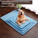 Summer cooling mat for dogs, cats, washable, blue, XL 102*70cm