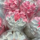 A colorful whipped, creamy soap, a gift for a girl