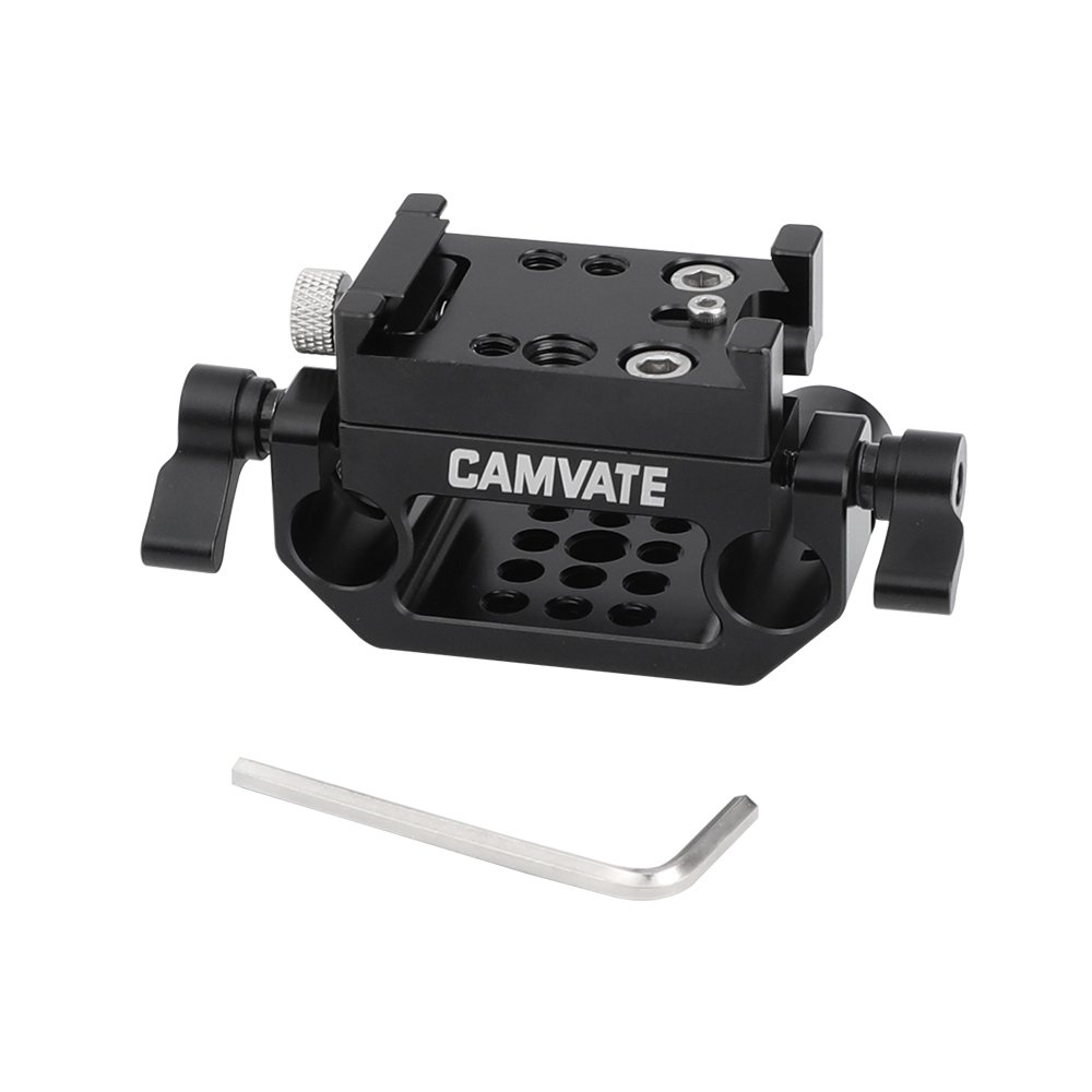 KAYULIN Manfrotto Quick Release Adapter Plate With 15mm Rod Clamp Base For Camera Cage Kit C2441