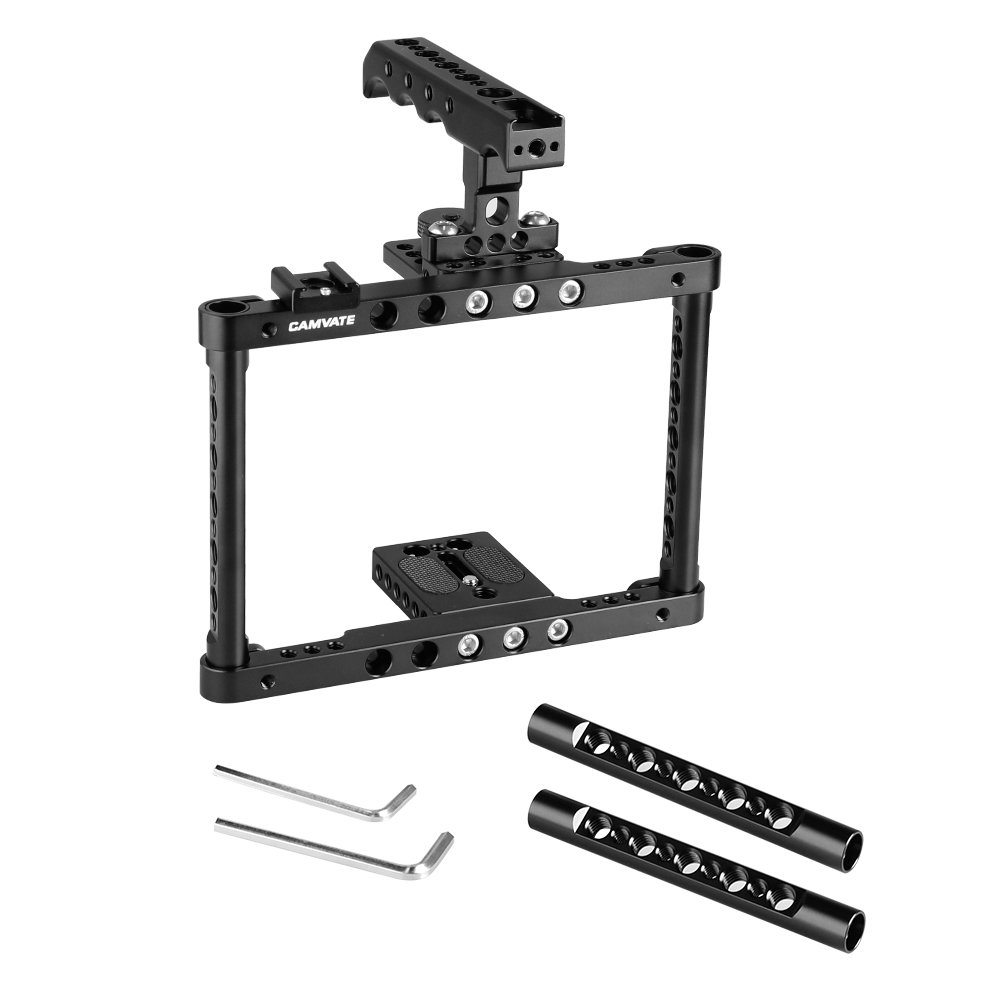 KAYULIN Camera Cage Kit Full Frame With Top Cheese Handle & Shoe Mount For Canon 600D 70D 80D C2183