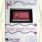 Home Sweet Home - sampler flag cross stitch leaflet