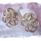 Vintage jewelry ~ Sarah Coventry ~ earrings Tailored Swirl