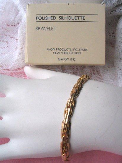 Vintage avon jewelry MIB bracelet Polished silhouette