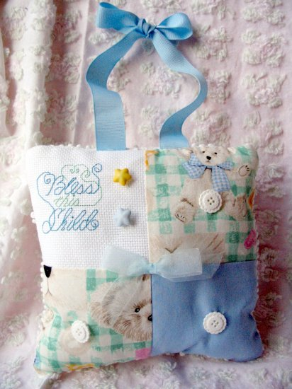 Handmade baby gift bear hanging pillow decor -unique gift