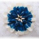 Vintage jewelry enamel flower power blue pin