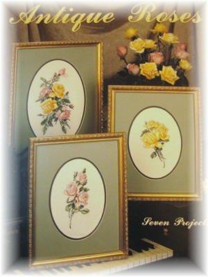 Antique Roses cross stitch Leaflet pattern Leisure Arts