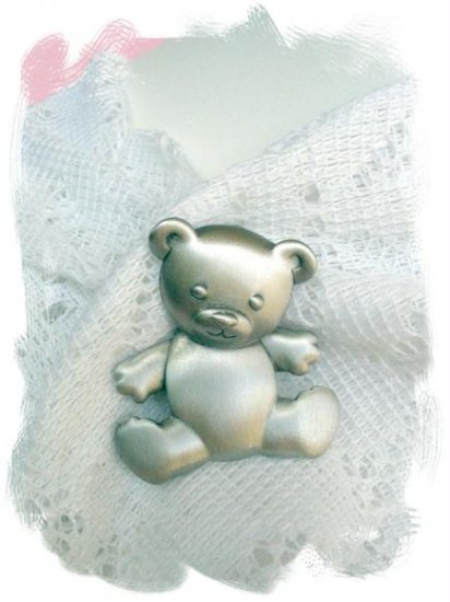 JJ Pewter Sweetest Teddy Bear Reticulated Small