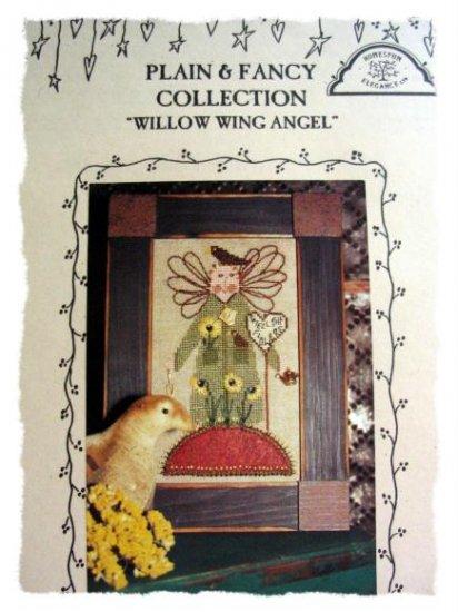 Willow wing Angel - garden cross stitch leaflet