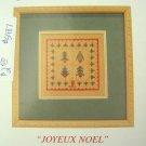 JBW DESIGNS Joyeux Noel cross stitch Chart christmas