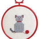 cat beginner's cross stitch kit janlynn  great for kids to learn